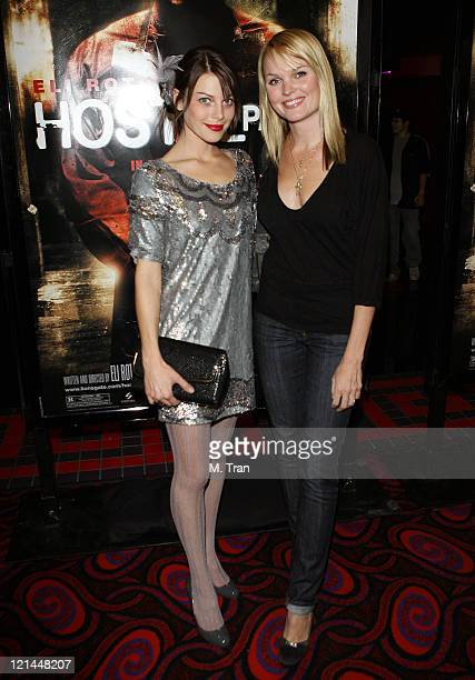 Lauren German and Sunny Mabrey during 'Hostel Part II' Los Angeles Premiere Arrivals at Mann's Chinese 6 in Hollywood California United States