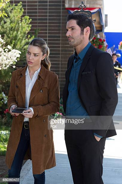 Lauren German and Tom Ellis in Everythings Coming Up Lucifer season premiere episode of LUCIFER airing Monday Sept 19 on FOX