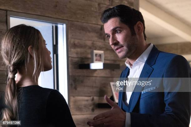 Lauren German and Tom Ellis in the 'Candy Morningstar spring premiere episode of LUCIFER airing Monday May 1 on FOX