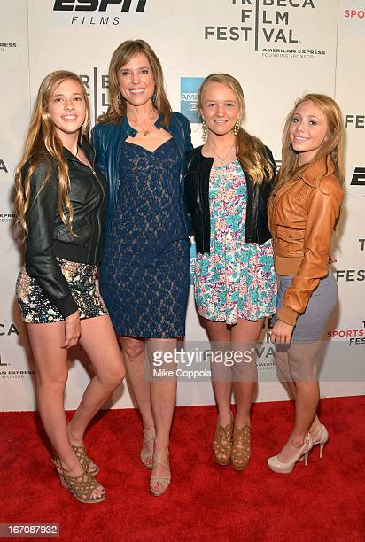 Lauren Gimpel Journalist Hanna Storm Lilly Morris and Ellery Hicks attend the Tribeca/ESPN Sports Film Festival Gala Big Shot during the 2013 Tribeca...