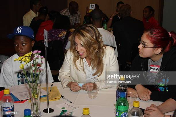 Lauren Glassberg and Young People attend New Yorkers For Children Entertainment Network to Success at New York University on May 7 2008 in New York...