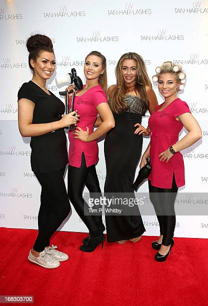 Lauren Goodger and her 'Essex Angels' attend the launch of 'Lauren's Way' a collection by Lauren Goodger at Jewel Bar on May 8 2013 in London England