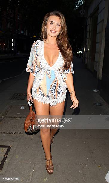 Lauren Goodger arrives at Heat Magazine offices to talk about Lifetime's new show UnREAL on July 7 2015 in London England