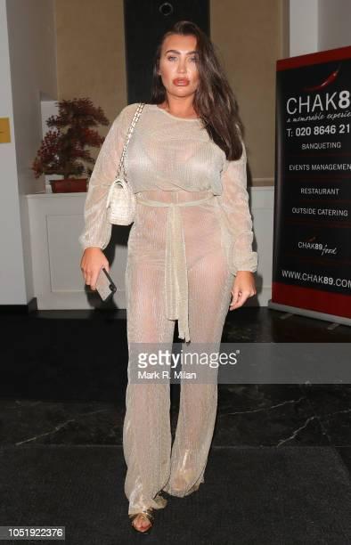 Lauren Goodger at CHAK89 restaurant on October 11 2018 in London England