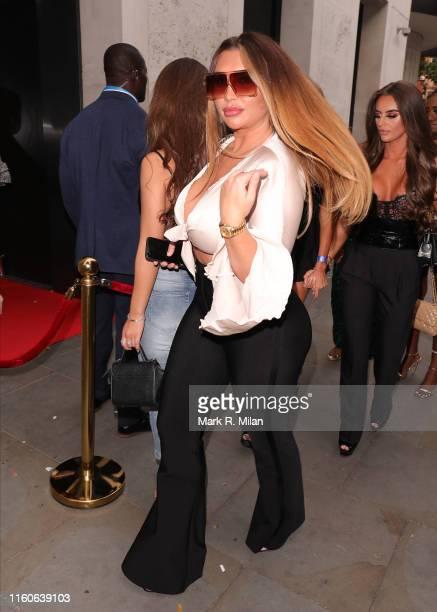 Lauren Goodger at STK restaurant on July 07 2019 in London England