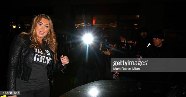 Lauren Goodger at the May Fair hotel on March 12 2014 in London England