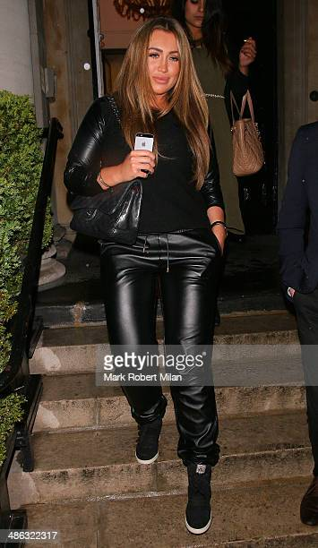 Lauren Goodger attending the Superdrug 50th Birthday celebration at One Marylebone on April 23 2014 in London England