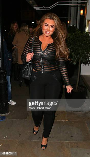Lauren Goodger attending the Total Minx Launch Party on February 25 2014 in London England