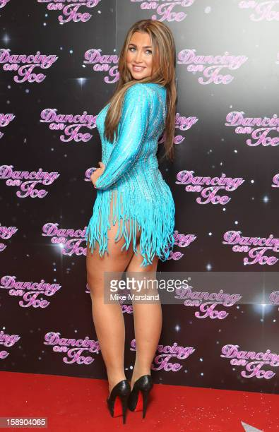 Lauren Goodger attends a photocall for the launch of Dancing on Ice 2013 at The London Television Centre on January 3 2013 in London England