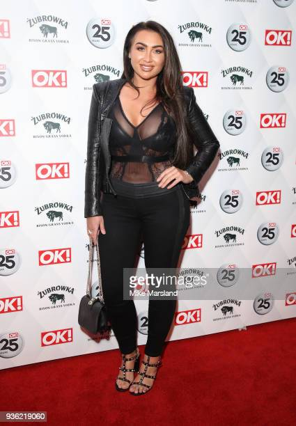 Lauren Goodger attends OK Magazine's 25th Anniversary Party at The View from The Shard on March 21 2018 in London England