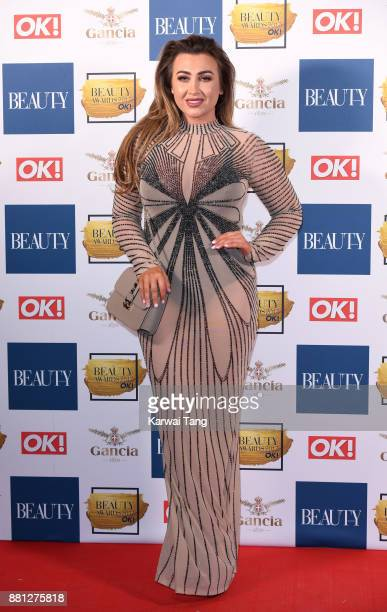 Lauren Goodger attends The Beauty Awards at Tower of London on November 28 2017 in London England
