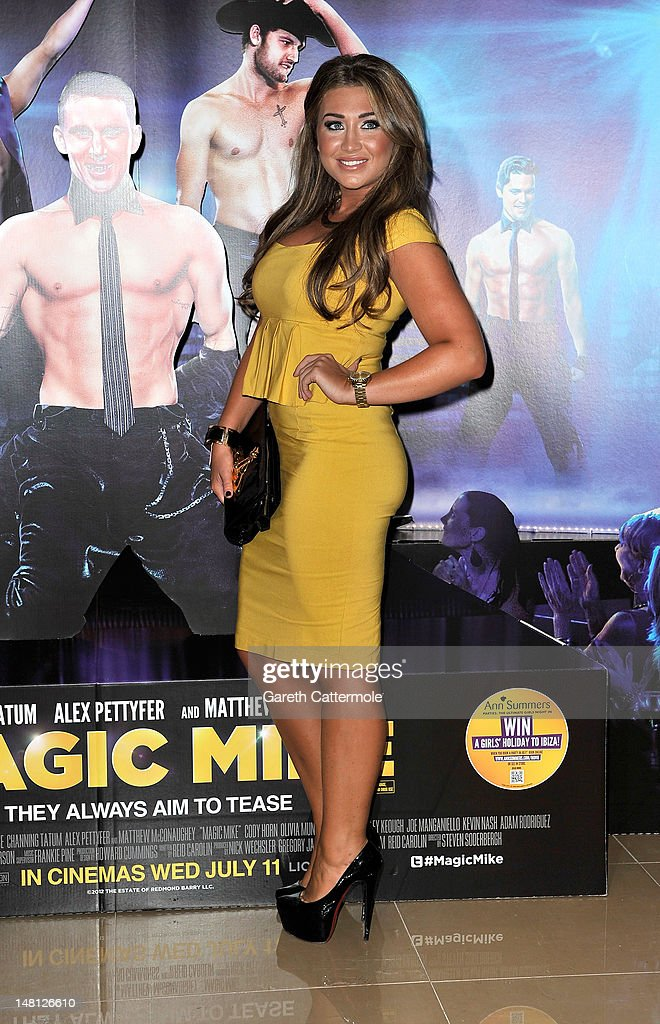Lauren Goodger attends the European premiere of Magic Mike at The Mayfair Hotel on July 10, 2012 in London, England.