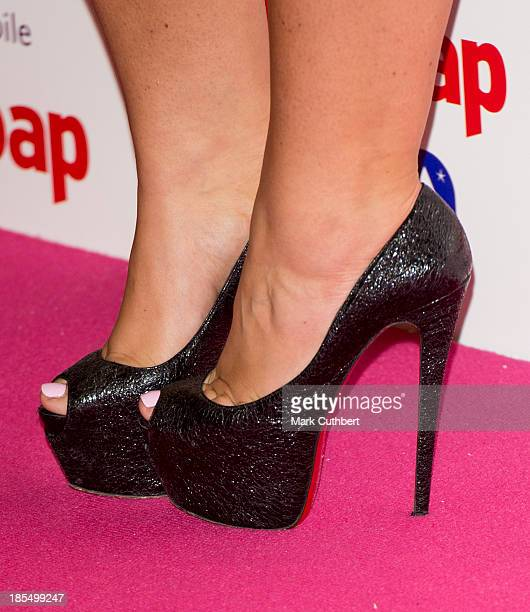 Lauren Goodger attends the Inside Soap Awards at Ministry Of Sound on October 21 2013 in London England