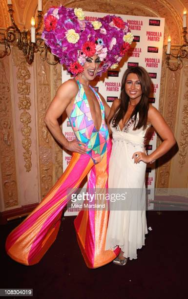 Lauren Goodger attends the launch of 'Priscilla Parties' at Palace Theatre on January 24 2011 in London England
