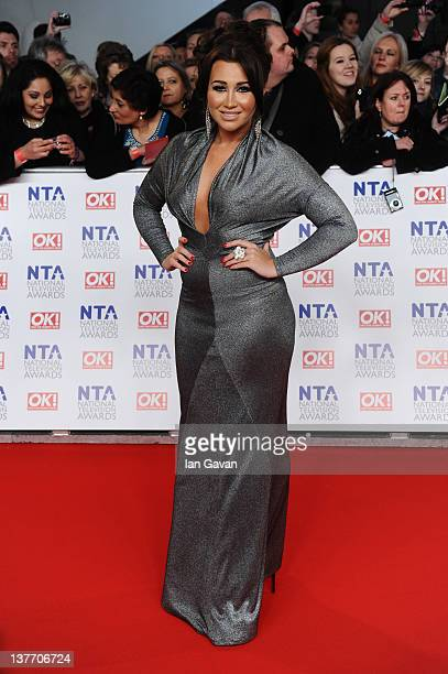 Lauren Goodger attends the National Television Awards 2012 at the 02 Arena on January 25 2012 in London England