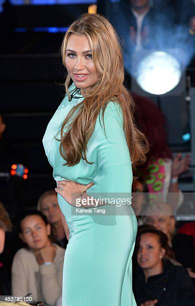 Lauren Goodger enters the Celebrity Big Brother house at Elstree Studios on August 18 2014 in Borehamwood England