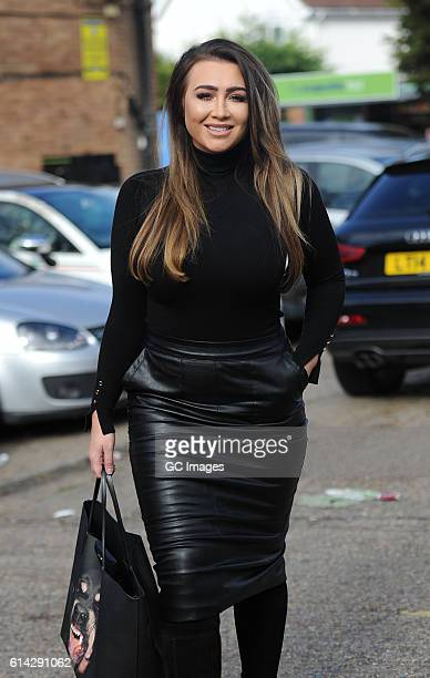 Lauren Goodger is seen filming for Reality TV show TOWIE on October 11 2016 in London England