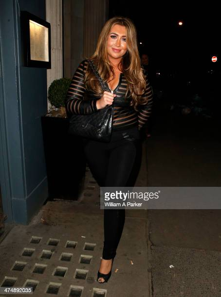 Lauren Goodger is seen leaving Mahiki Nightclub on February 25 2014 in London England