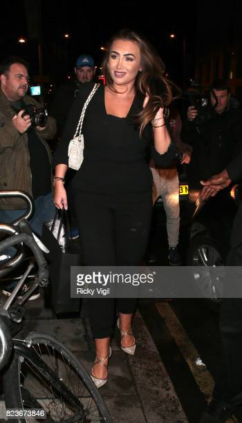 Lauren Goodger leaving Ann Summers a/w 2017 launch party on July 27 2017 in London England