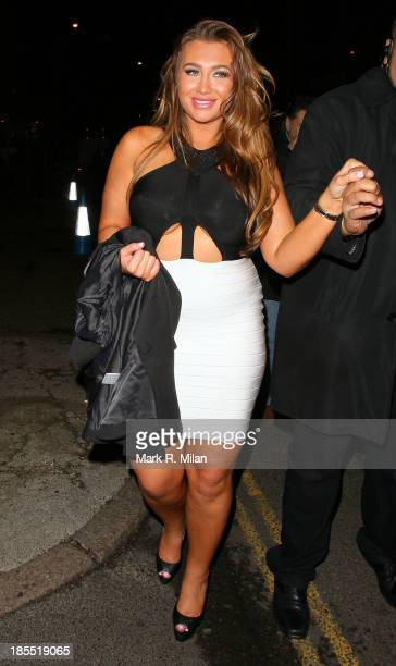 Lauren Goodger leaving the Inside Soap Awards on October 21 2013 in London England