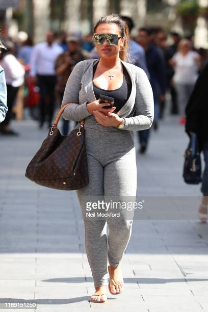 Lauren Goodger seen arriving at Global Radio Studios on August 20 2019 in London England