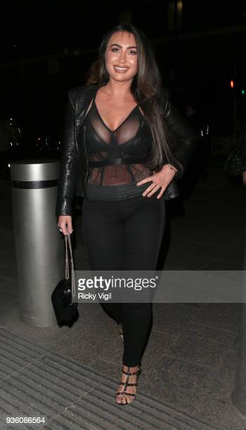 Lauren Goodger seen attending OK Magazine's 25th anniversary party at The View from the Shard on March 21 2018 in London England