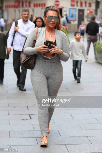 Lauren Goodger seen leaving Global Radio Studios on August 20 2019 in London England