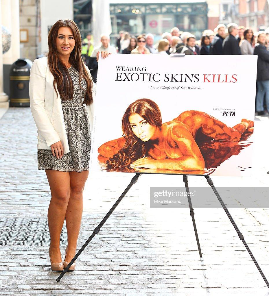 Lauren Goodger Unveils Sexy Anti-Exotic-Skins Ad