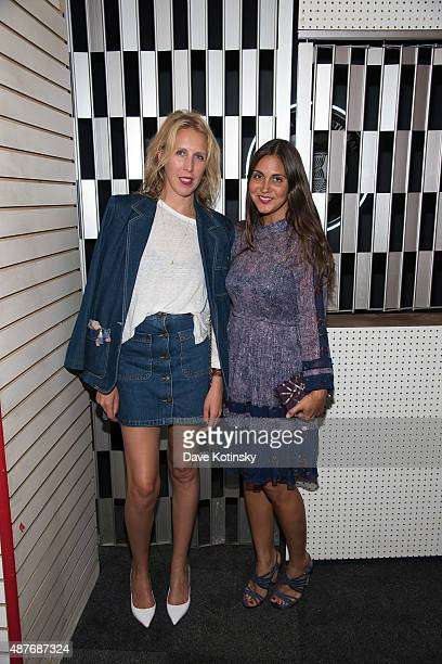 "Lauren Goodman and Savine Heller attend the DAZED and Red Bull Studios New York Opening Of ""Scenario In The Shade"" Hosted By Jefferson Hack, Jonah..."