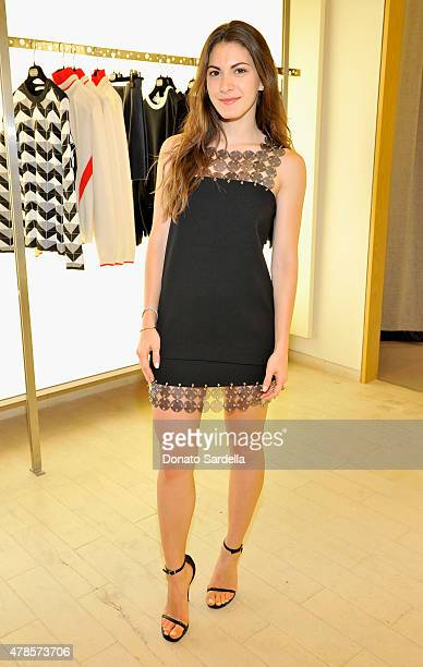 Lauren Gores attends a luncheon for Julien Dossena and the Paco Rabanne Fall Winter 2015 Collection hosted by Lisa Love and Barneys New York on June...