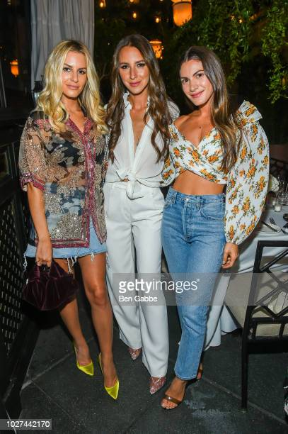 Lauren Gores Ireland Arielle Charnas and Morgan Stewart attend Nordstrom's SOMETHING NAVY Brand Launch Dinner At The Gramercy Park Hotel on September...