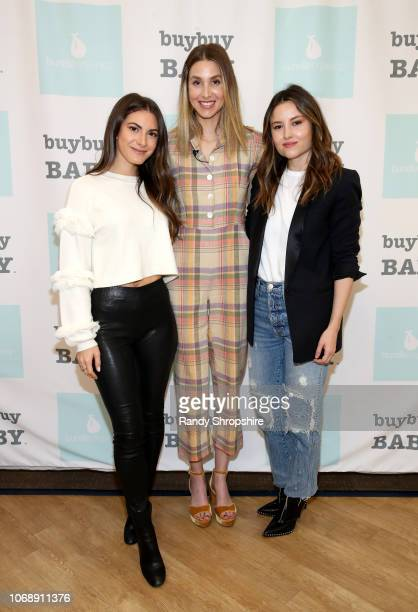 Lauren Gores Whitney Port and Geri Hirsch attend the Whitney Port Bundle Organics #MomAsYouAre buybuyBABY product launch on November 17 2018 in...