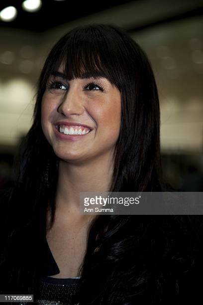 Lauren Gottlieb gets interviewed at the LA Convention Center during the Reality Rocks reality show convention on April 10 2011 in Los Angeles...