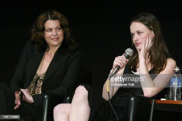 Lauren Graham and Alexis Bledel during ACADEMY OF TELEVISION ARTS SCIENCES presents Behind the Scenes of 'Gilmore Girls' at Leonard H Goldenson...