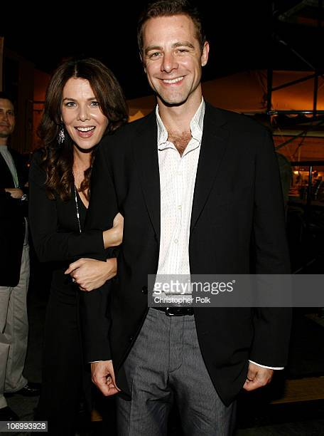 Lauren Graham and David Sutcliffe during CW Launch Party - Inside at WB Main Lot in Burbank, California, United States.