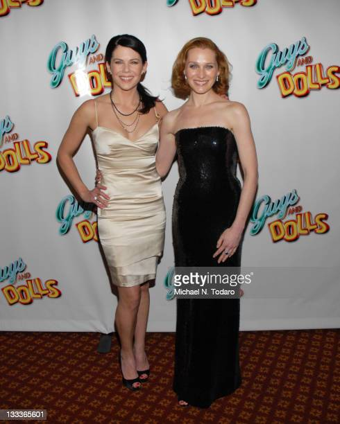 Lauren Graham and Kate Jennings attend the 'Guys Dolls' opening night party at Gotham Hall on March 1 2009 in New York City