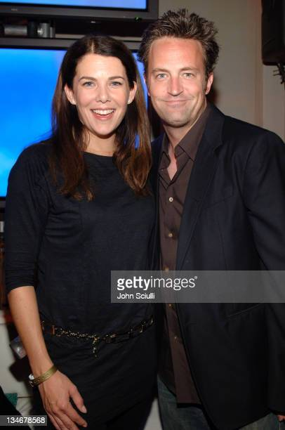 Lauren Graham and Matthew Perry during Entertainment Weekly Magazine 4th Annual Pre-Emmy Party - Inside at Republic in Los Angeles, California,...