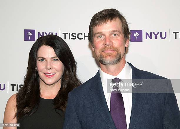 Lauren Graham and Peter Krause attend NYU Tisch School of the Arts 2015 Gala at Frederick P Rose Hall Jazz at Lincoln Center on May 4 2015 in New...