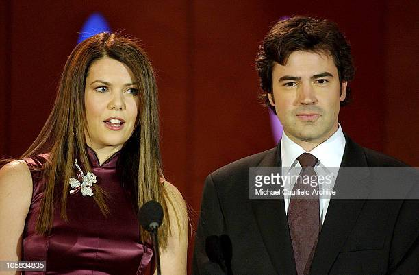 Lauren Graham and Ron Livingston during 9th Annual Critics' Choice Awards - Audience and Show at The Beverly Hills Hotel in Beverly Hills,...