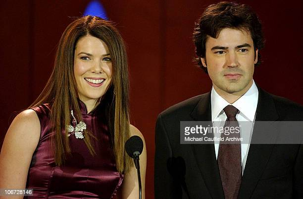 Lauren Graham and Ron Livingston during 9th Annual Critics' Choice Awards Audience and Show at The Beverly Hills Hotel in Beverly Hills California...