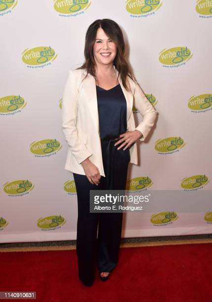 Lauren Graham attends Lights Camera WriteGirl at Linwood Dunn Theater on April 06 2019 in Los Angeles California