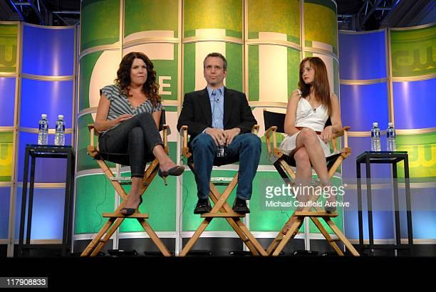Lauren Graham David Rosenthal executive producer and Alexis Bledel of Gilmore Girls