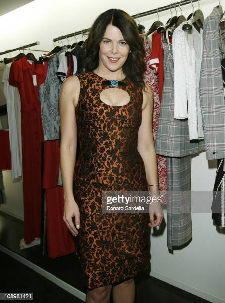 Lauren Graham during Carolina Herrera and Vogue Magazine store Opening on Melrose Place to Benefit Couture Cares for The Revlon UCLA Breast Cancer at...