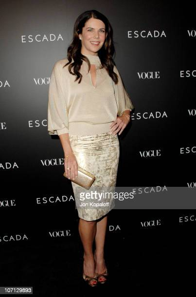 Lauren Graham during Escada Grand Opening Of The Beverly Hills Flagship Boutique Arrivals at Escada Beverly Hills in Beverly Hills California United...