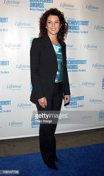 Lauren Graham during Lifetime's Achievement Awards Women Changing the World Arrivals at Manhattan Center in New York City New York United States