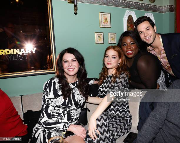 Lauren Graham Jane Levy Alex Newell and Skylar Astin at Tramp Stamp Granny's on February 04 2020 in Los Angeles California