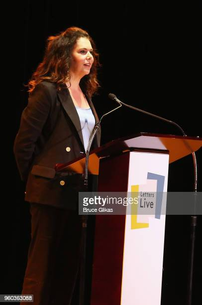 Lauren Graham performs in the New York debut of the hit show 'Letters Live' at Town Hall on May 19 2018 in New York City