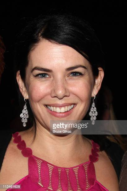 Lauren Graham poses at The Opening Night Party for The World Premiere of Dolly Parton's 9 to 5 at The Plaza of Our Lady of the Angels Cathedral on...
