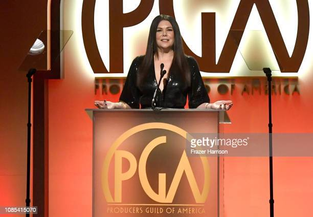 Lauren Graham speaks onstage during the 30th annual Producers Guild Awards at The Beverly Hilton Hotel on January 19 2019 in Beverly Hills California