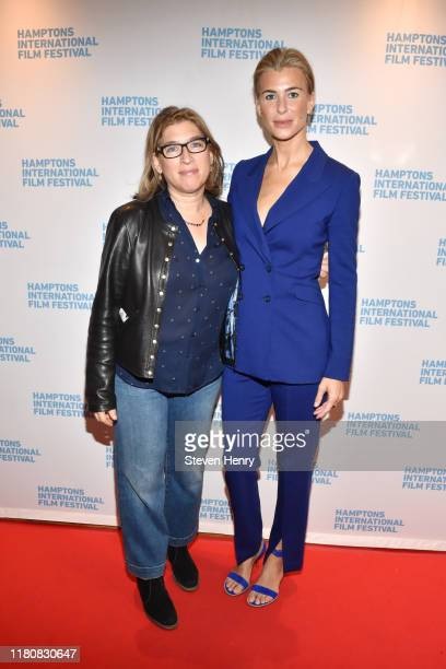 Lauren Greenfield and Lilly Hartley attends The Kingmaker New York premiere screening during the 2019 Hamptons International Film Festival on October...